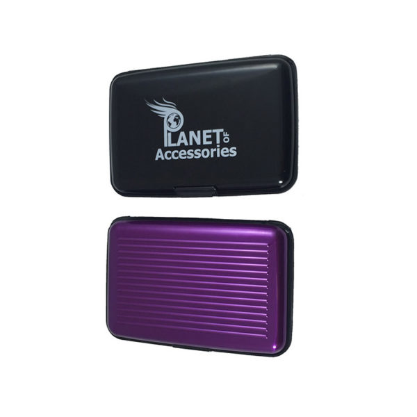 2-Aluminium-Card-Wallets-in-Choice-Of-Colours-Black-and-Purple