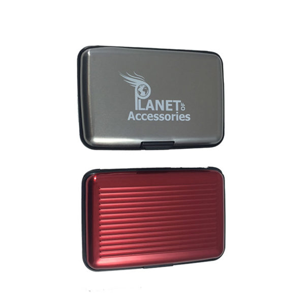 2-Aluminium-Card-Wallets-in-Choice-Of-Colours-dark-gray-and-red