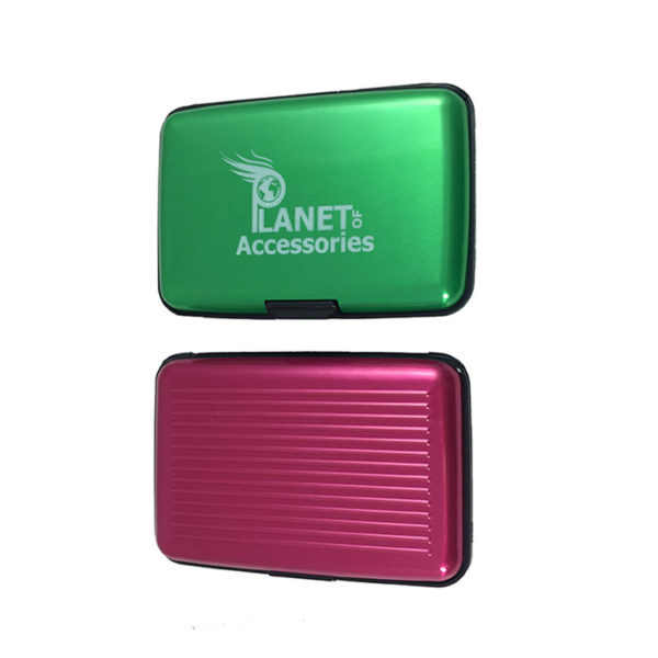 2-Aluminium-Card-Wallets-in-Choice-Of-Colours-green-and-pink