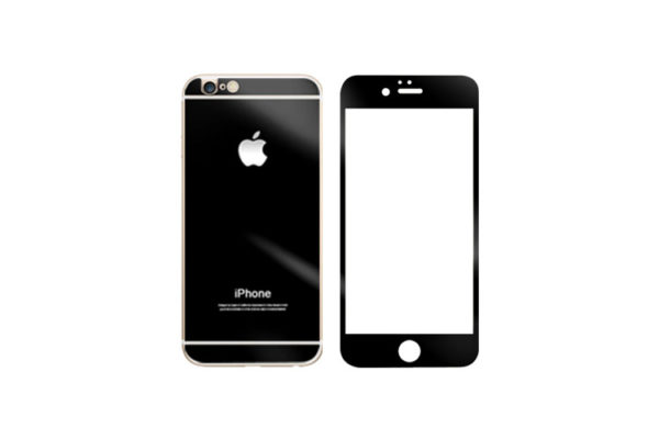 Mirror Glass Screen Protector For iPhone – Black
