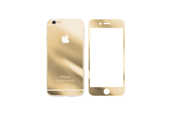 Mirror Glass Screen Protector For iPhone – Gold