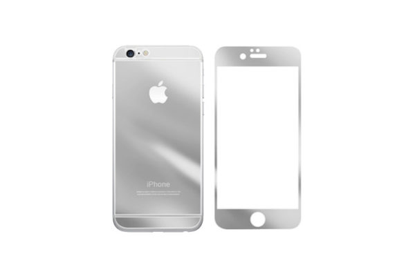Mirror Glass Screen Protector For iPhone – Silver