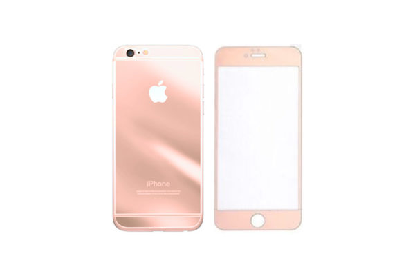 huge selection of 62091 b89d6 For iPhone 5 /5S /SE Tempered Glass Mirror Front and Back Screen Protector  Rose Gold