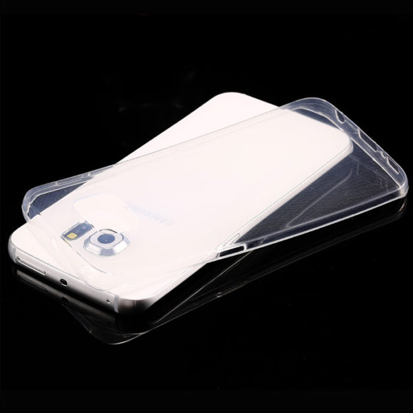 Transparent-Plastic-Back-Cover-Case-For-Samsung-Galaxy-S6-Edge