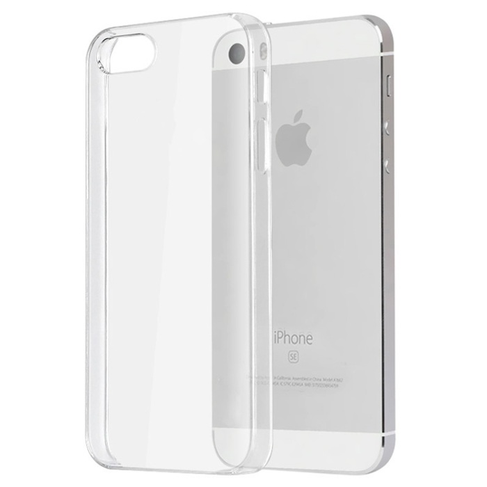timeless design 5a9a2 923f5 Transparent Plastic Back Cover Case For iPhone 5 / 5s / SE - Clear