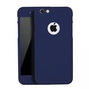 Full Body Cover with Tempered Glass Screen Protector For iPhone 6 Plus/ 6s Plus Dark Blue
