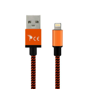 2 Meter 8 Pin Strong Braided Fabric Sync/Charge Cable Orange