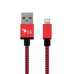 2 Meter 8 Pin Strong Braided Fabric Sync/Charge Cable Red
