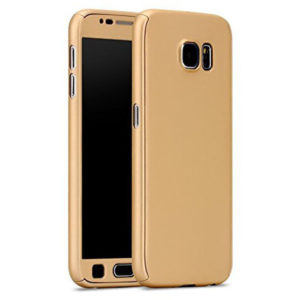 Full Body Cover with Tempered Glass Screen Protector For Samsung A3 (2017) Gold