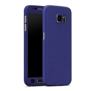 Full Body Cover with Tempered Glass Screen Protector For Samsung A3 (2017) Navy Blue