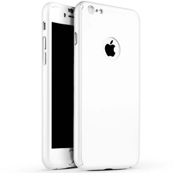 lowest price 6861d f747c Full Body Cover with Tempered Glass Screen Protector For iPhone 8 White