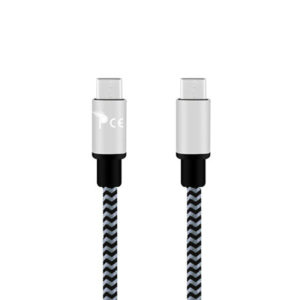 1 Meter Micro USB Type C to Micro USB Type C Strong Braided Fabric Sync/Charge Cable Gold