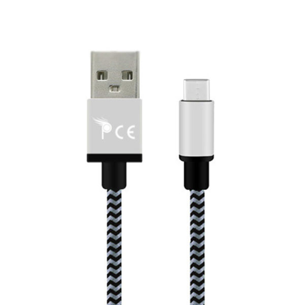 Micro-usb-type-c-to-usb-2.0-braided-1-meter-usb-charging-data-cable-grey-1