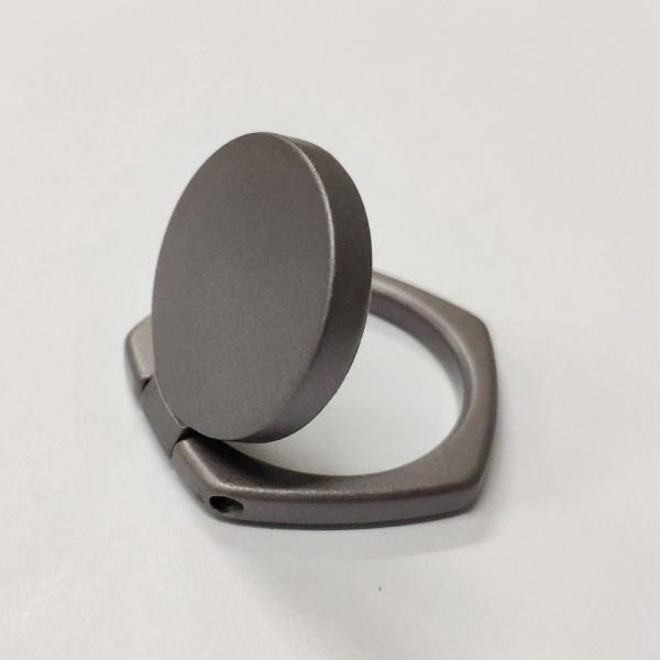 Ring Phone Holder 5 Angle Shape Black (1)