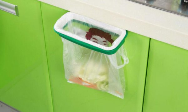 Cary Bag Holder for Multi Purpose Use Like Kitchen Garbage Bag Green White