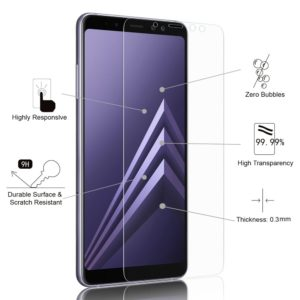 Tempered Glass Screen Protector For Samsung Galaxy A8+ (2018)